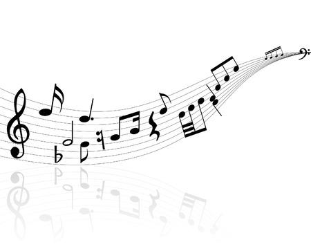 viertelnote: Musiknoten Hintergrund mit Linien. Vector illustration.