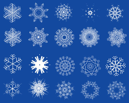 Big collection of winter snowflakes for designer use Stock Vector - 3858634