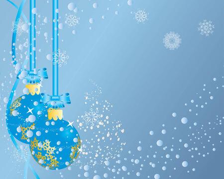 Christmas (New Year) postcard. Vector illustration. Stock Vector - 3886585