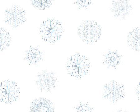Seamless background with winter snowflakes for designer use Stock Vector - 3886586