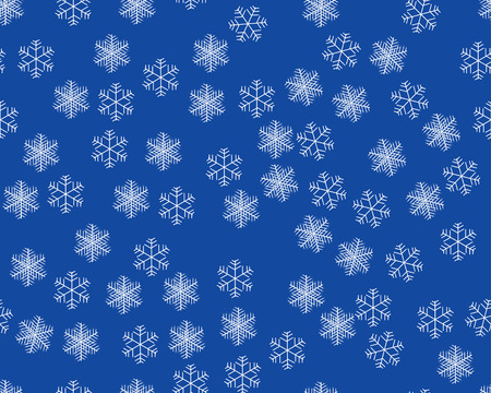 Seamless background with winter snowflakes for designer use Vector