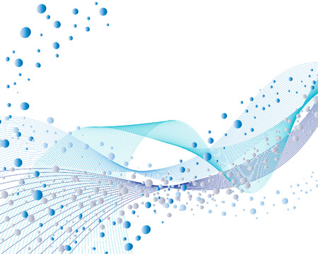 Abstract water vector background with bubbles of air Stock Vector - 3894977