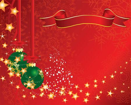 Christmas (New Year) greeting postcard. Vector illustration. Stock Vector - 3910347