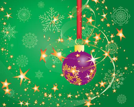 Christmas (New Year) greeting postcard. Vector illustration. Stock Vector - 3931430