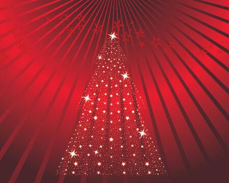 Christmas (New Year) greeting postcard. Vector illustration. Stock Vector - 3931433