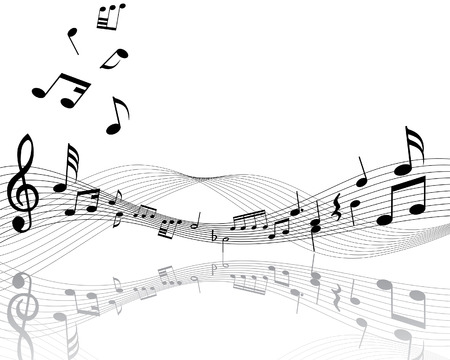 Musical notes staff with lines and shadows Stock Vector - 3931425