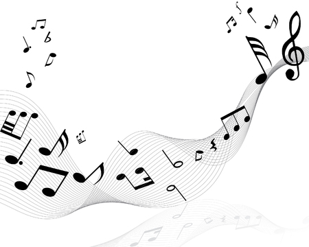 Musical notes staff with lines and shadows Stock Vector - 3931427