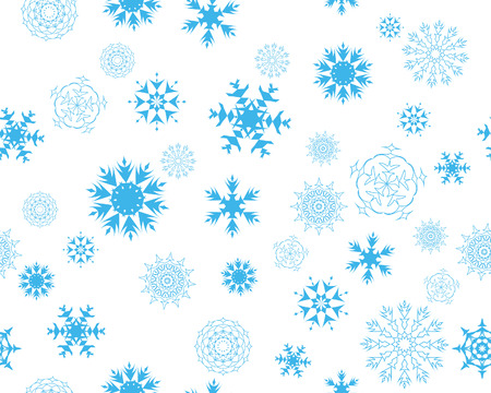 seamless vector snowflakes background in different shapes Stock Vector - 3966190