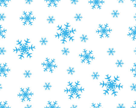 seamless vector snowflakes background in different shapes Stock Vector - 3966185