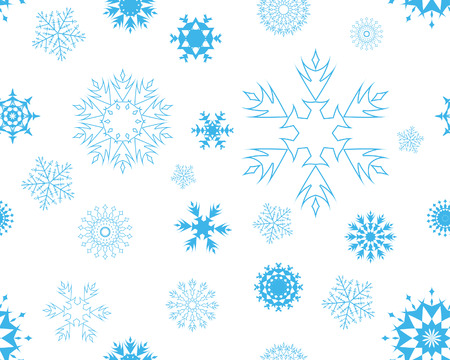 seamless vector snowflakes background in different shapes Stock Vector - 3966189