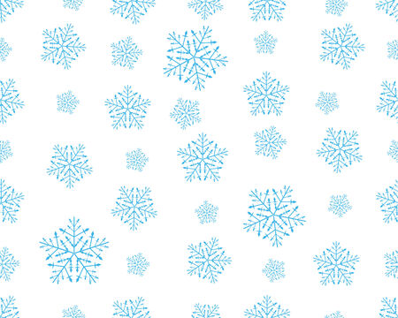 seamless vector snowflakes background in different shapes Stock Vector - 3966188