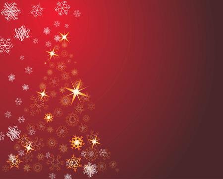 Christmas (New Year) greeting postcard. Vector illustration. Vector