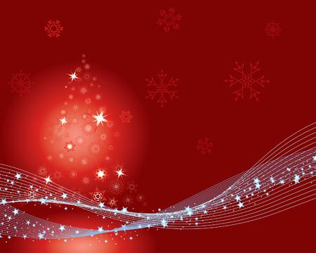 Christmas (New Year) greeting postcard. Vector illustration. Illustration