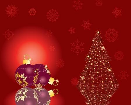 Christmas (New Year) greeting postcard. Vector illustration. Stock Illustration - 3986790