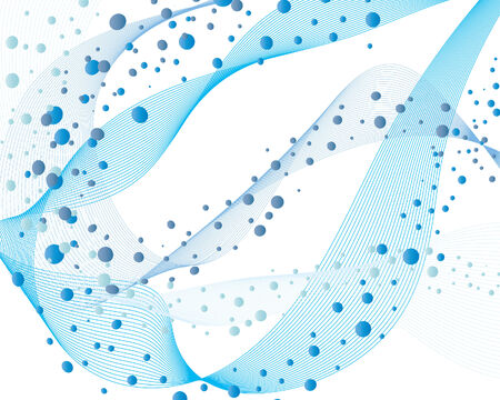 gale: abstract vector water background with bubbles of air