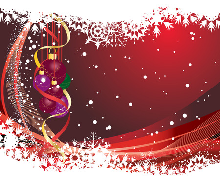 Abstract christmas background with snowflakes frame. Vector illustration. Stock Vector - 3986805