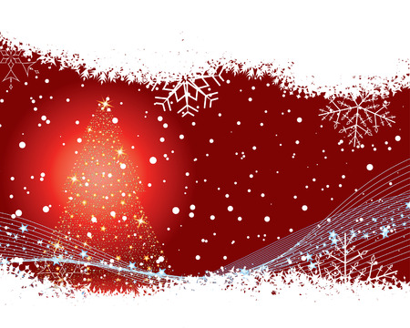 Abstract christmas background with snowflakes frame. Vector illustration. Stock Vector - 3986807