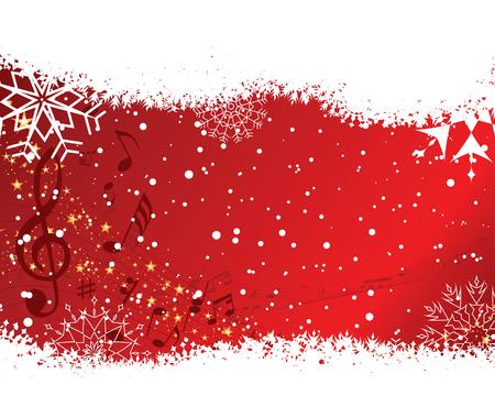 pentagrama musical: De Navidad (A�o Nuevo) con el personal de tarjeta de felicitaci�n musical. Vector background.