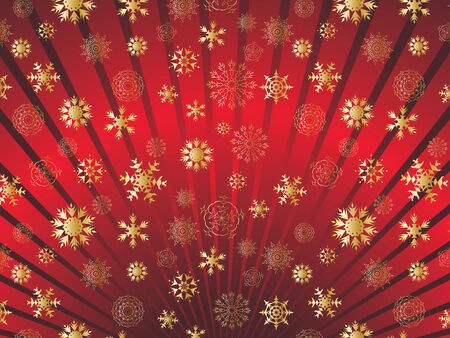 decorative item: Abstract winter background with snowflakes frame. Vector illustration.