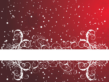 Victorian winter frame background with snowflakes elements Vector
