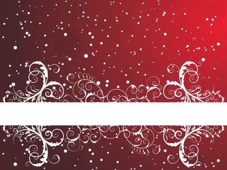 Victorian Winter Frame Hintergrund mit Schneeflocken-Elemente