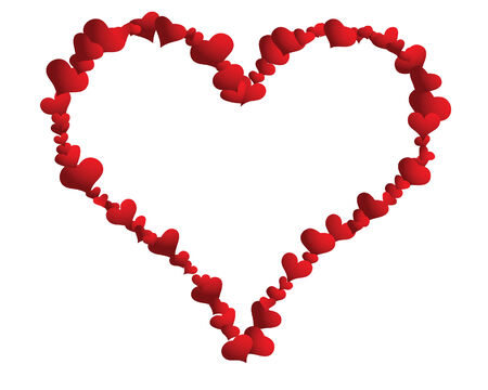 St. Valentine Day  vector  heart frame for design use Stock Vector - 4102934