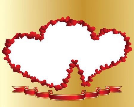 St. Valentine Day  vector  heart frame for design use Stock Vector - 4102937