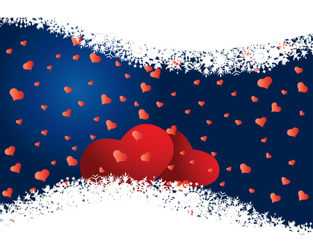 St. Valentine Day  greeting card with hearts Stock Vector - 4102947
