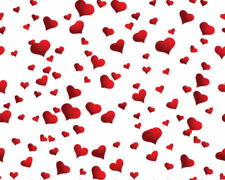 St. Valentine Day  seamless background  with hearts Stock Vector - 4102936