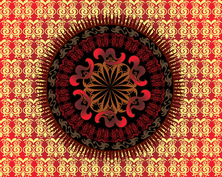 Abstract vector ornate background for design use Vector