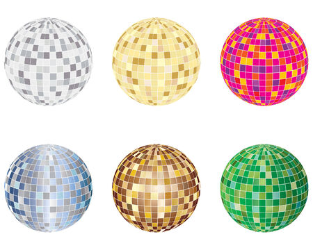 Set of disco sphere equipment in three-dimensions shape Stock Vector - 4122336