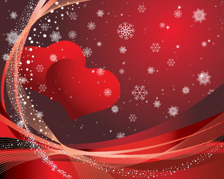 vector images: St. Valentine Day greeting card with hearts
