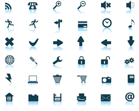 Biggest collection of different icons for using in web design Stock Vector - 4122347