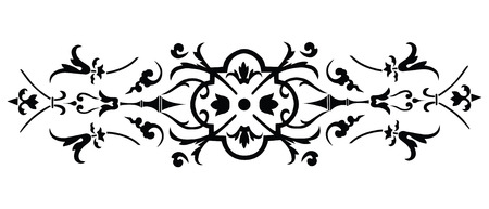 Vintage vector border ornate on white background Vector