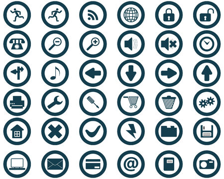 Biggest collection of different icons for using in web design Stock Vector - 4142776