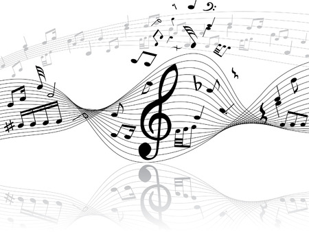 minims: Musical note stuff  vector backgrounds with notes and lines Illustration