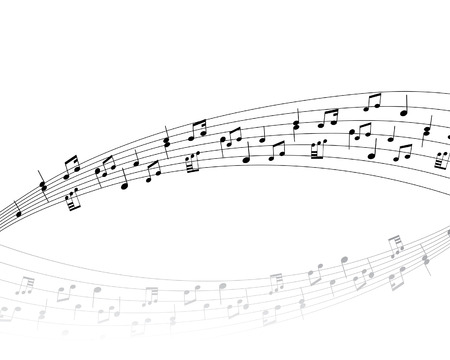 semiquaver: Musical note stuff  vector backgrounds with notes and lines Illustration