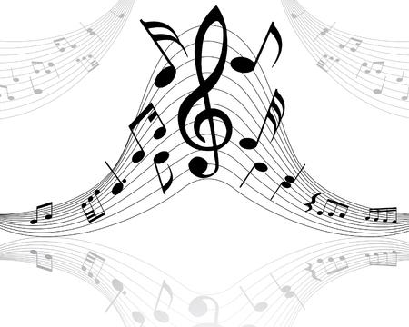 clave de fa: Nota musical cosas con antecedentes de vectores y l�neas de notas