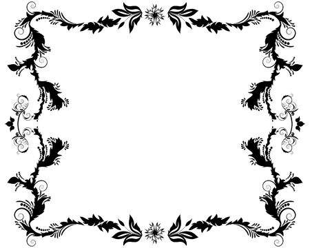 Abstract floral vector frame background in Victorian style Vector