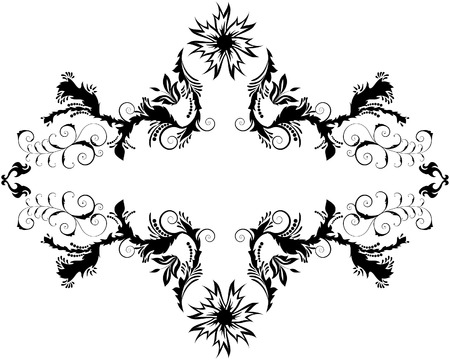 vector artwork: Abstract floral vector frame background in Victorian style
