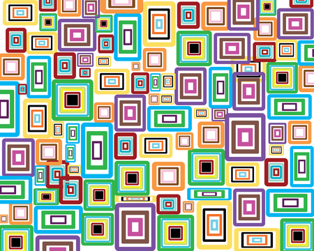 rectangle patterns: Rectangle stroke elements vector background in different coloros