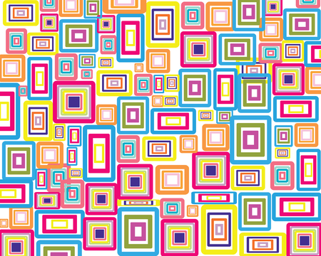fabric textures: Rectangle stroke elements vector background in different coloros