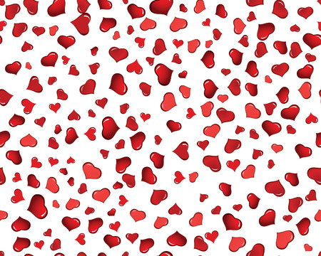St. Valentine Day  seamless background  with hearts Vector
