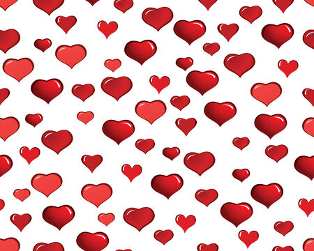 St. Valentine Day  seamless background  with hearts Stock Vector - 4198433