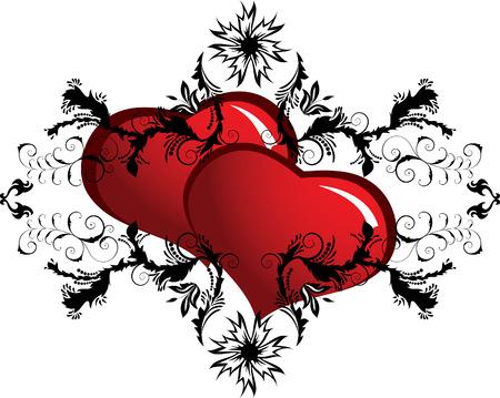 st valentine: D�a de San Valent�n con corazones florales marco