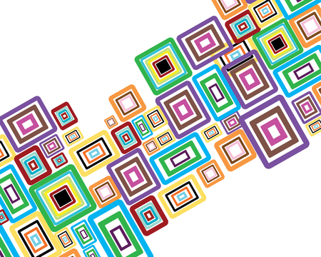 mosaic pattern: Rectangle stroke elements vector background in different coloros