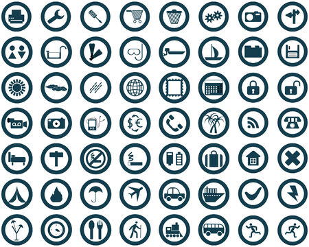 Biggest collection of different icons for using in web design Stock Vector - 4272890