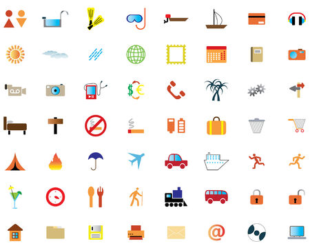 Biggest collection of different icons for using in web design Stock Vector - 4272885