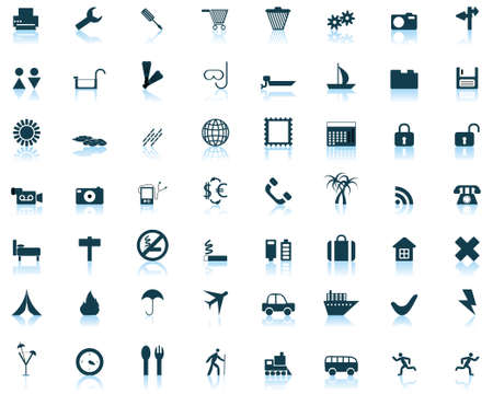 Biggest collection of different icons for using in web design Stock Vector - 4272915