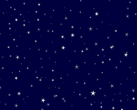 Beautiful night starry sky background . Vector illustration.